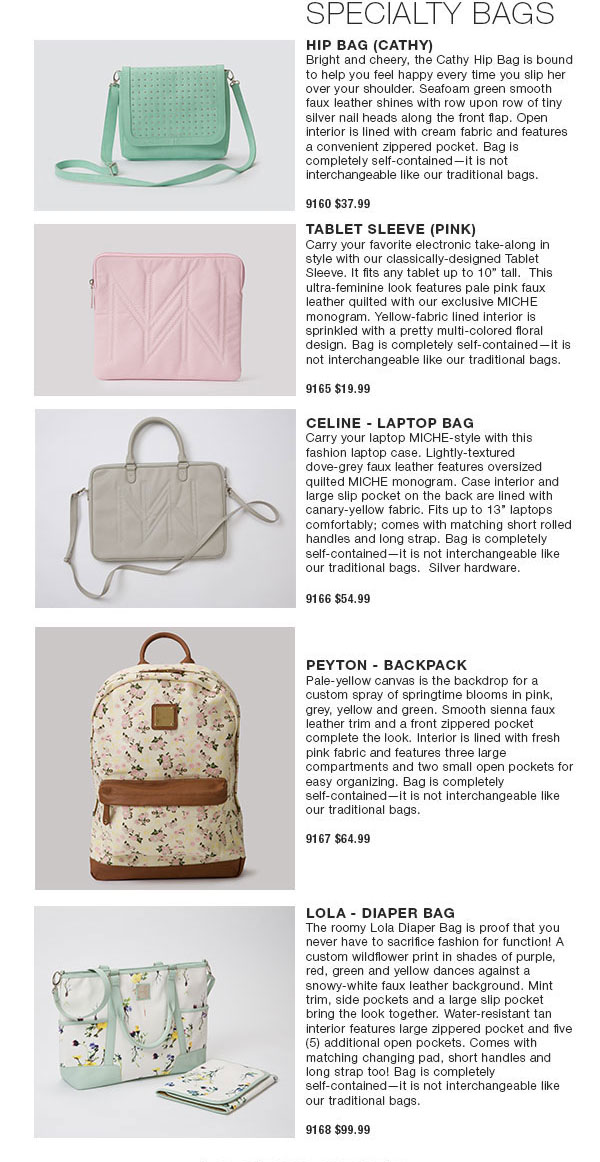 Miche February 2015 & Spring 2015 New Releases