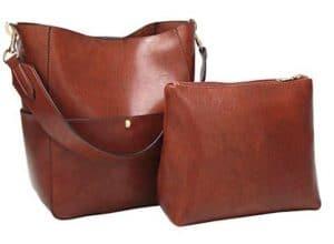 Womens Hobo Style Top Handle Tote PU Leather Handbag Shoulder Purse