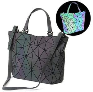 Geometric Luminous Bag - Changes Color With Light